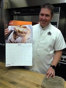 Eric Wearner receives his 2016 Puratos calendar. Photo credit:Marlee Riggin
