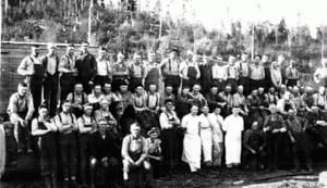 Lincoln Creek Lumber Company started as a mill in 1903. Photo credit: Lincoln Creek Lumber