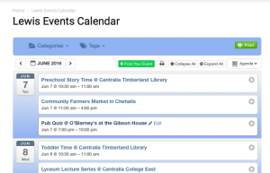 The Events Calendar on LewisTalk.com is consistently one of the most-read pages daily.