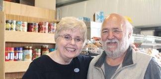 Sue Austin and Volunteer