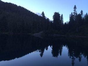 Mount Rainier from Mowich Lake