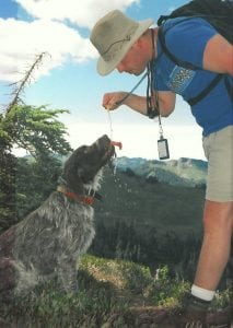Dwayne and dog Rugar