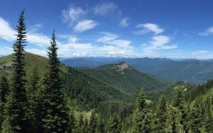 Cascades Mountains Panorama