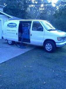 Cornerstone Carpets Van