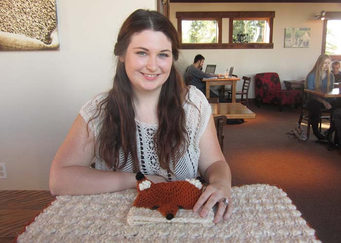 Rebecca Eitemiller, proprietress of Rozy Cozy Crochet