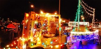 Centralia Lighted Tractor Parade