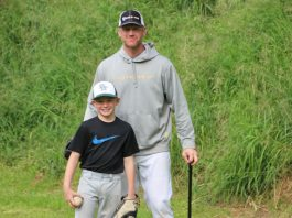 Lyle Overbay with Son
