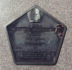 George Washington Bicentenial plaque