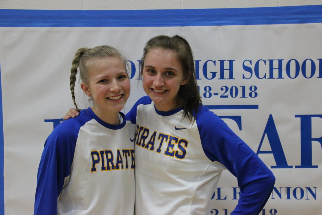Ellie and Emily Sliva are Adna Pirates