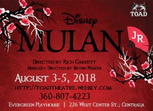 Mulan Jr Theater Summer Camp @ The Evergreen Playhouse