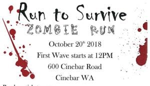 """Run to Survive"" Zombie Run @ Huntington's Pumpkin Patch and Haunted Forest 