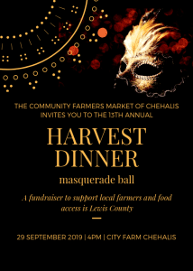 2019 Harvest Dinner Masquerade @ City Farm Chehalis