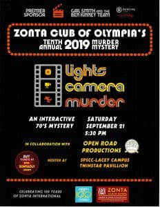 Zonta Club of Oympia's Tenth Annual Murder Mystery @ South Puget Sound Community College - Lacey Campus