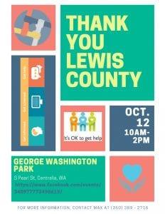 Thank You Lewis County @ George Washington Park