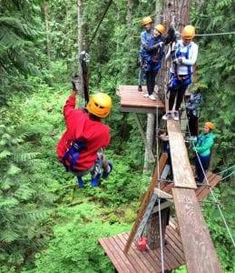 Treehouse Island Ziplining