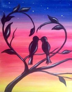 Paint night @ Kitty Kat Haven Program Center