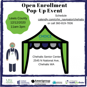 Open Enrollment In-Person Mobile Pop up event @ Chehalis Senior Center Parking lot