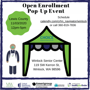 Open Enrollment In-Person Mobile Pop up event @ Winlock Senior Center Parking lot