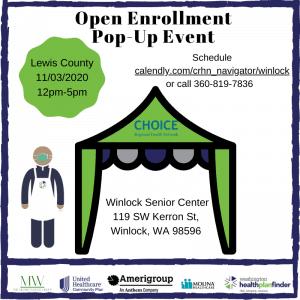 Open Enrollment In-Person Mobile Pop up event @ Winlock Senior Center Parking lot