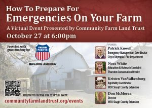 How To Prepare For Emergencies On Your Farm @ Virtual Event (Link through GoTo Meeting)