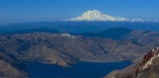 Spirit Lake and Mount Saint Helens