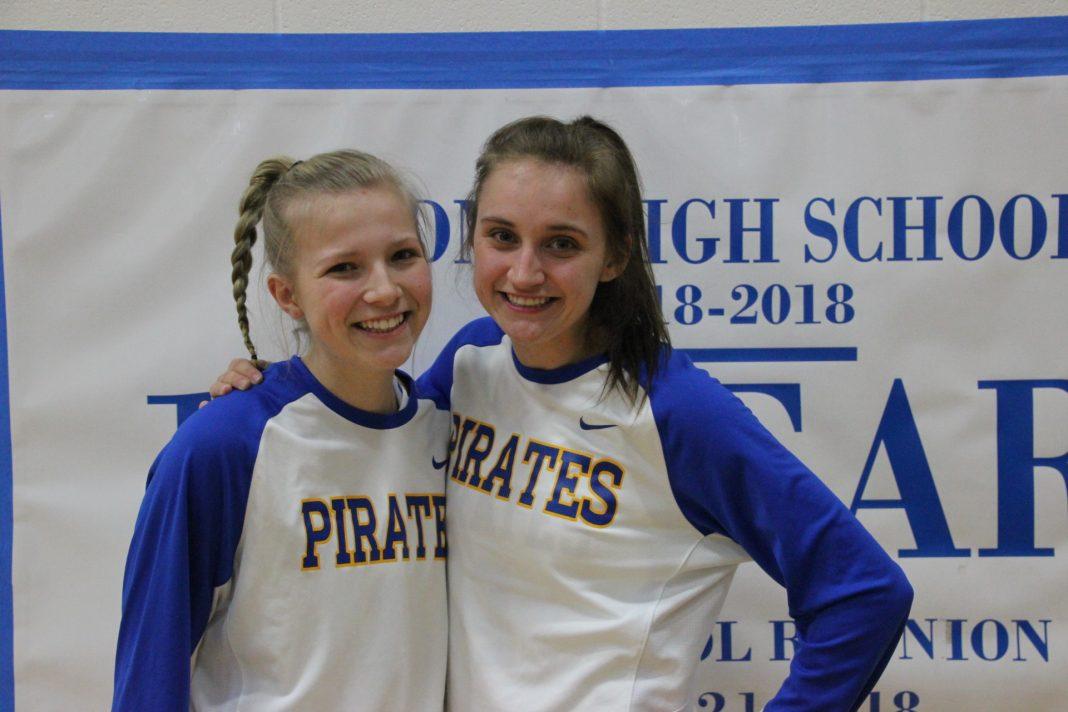 Ellie and Emily Sliva are Adna Pirates